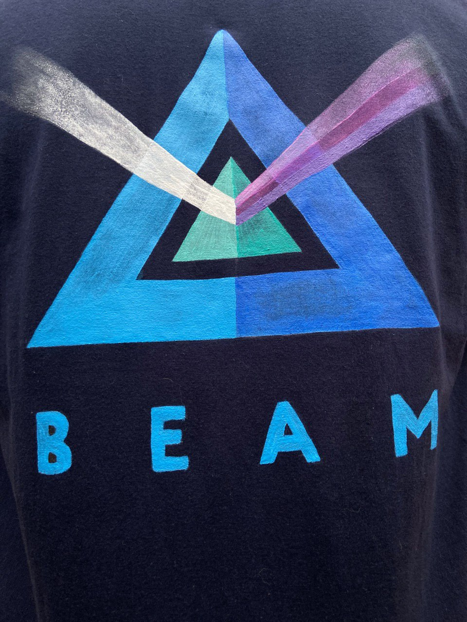 Beam T-shirt Black | Hand-Painted